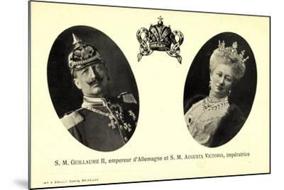 Kaiser Wilhelm Ii, Auguste Victoria, Empereur--Mounted Giclee Print