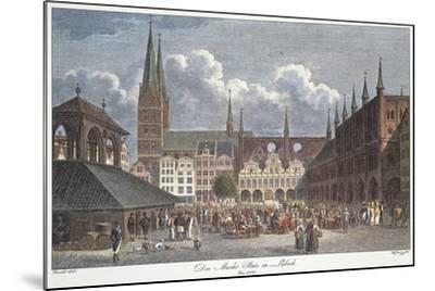Germany, Lubeck, Marktplatz--Mounted Giclee Print