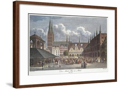 Germany, Lubeck, Marktplatz--Framed Giclee Print