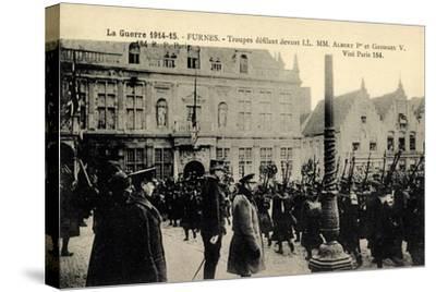 Furnes Westflandern, Troupes, Albert 1Er, Georges V--Stretched Canvas Print