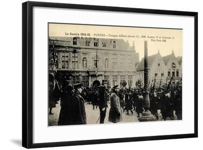 Furnes Westflandern, Troupes, Albert 1Er, Georges V--Framed Giclee Print