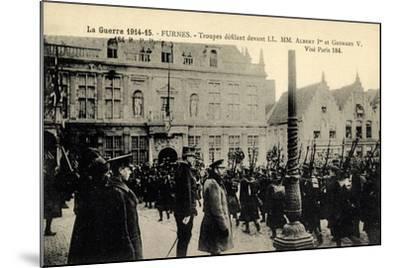 Furnes Westflandern, Troupes, Albert 1Er, Georges V--Mounted Giclee Print