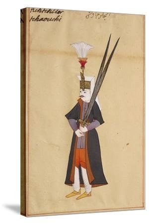 Soldier with Two-Edged Mythical Sword of Allah--Stretched Canvas Print