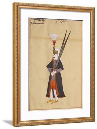 Soldier with Two-Edged Mythical Sword of Allah--Framed Giclee Print