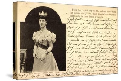 Her Majesty Queen Alexandra of Denmark, Crown--Stretched Canvas Print