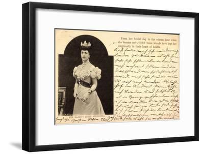Her Majesty Queen Alexandra of Denmark, Crown--Framed Giclee Print