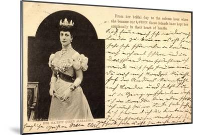 Her Majesty Queen Alexandra of Denmark, Crown--Mounted Giclee Print