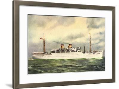 Hapag, Dampfschiff Milwaukee, Transatlantik--Framed Giclee Print