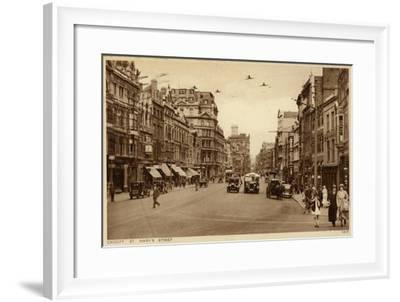 St Mary's Street in Cardiff--Framed Photographic Print