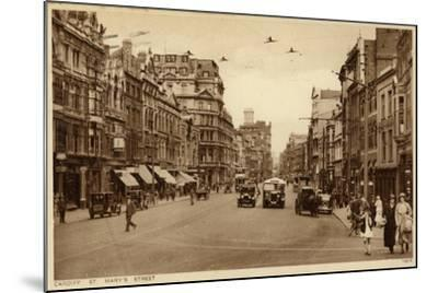 St Mary's Street in Cardiff--Mounted Photographic Print