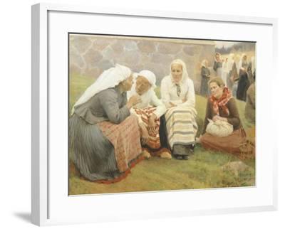 Ruokokoski Women, Finland 19th Century-Albert Edelfelt-Framed Giclee Print