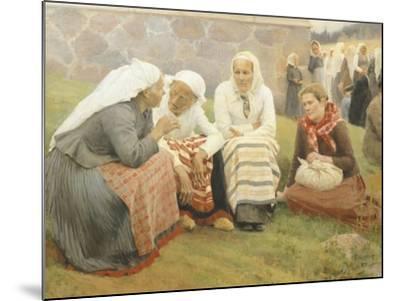 Ruokokoski Women, Finland 19th Century-Albert Edelfelt-Mounted Giclee Print