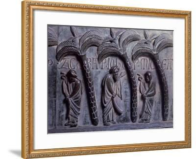 Prophets in Paradise of Palms, Bronze Panels from St Ranieri's Door-Bonanno Pisano-Framed Giclee Print