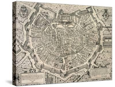 The Great City of Milan, Copperplate 1573-Antonio Lafrery-Stretched Canvas Print