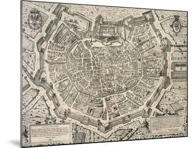 The Great City of Milan, Copperplate 1573-Antonio Lafrery-Mounted Giclee Print