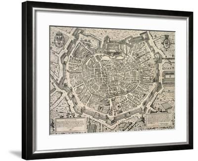 The Great City of Milan, Copperplate 1573-Antonio Lafrery-Framed Giclee Print
