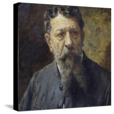 Portrait of Painter Scomparini-Antonio Lonza-Stretched Canvas Print
