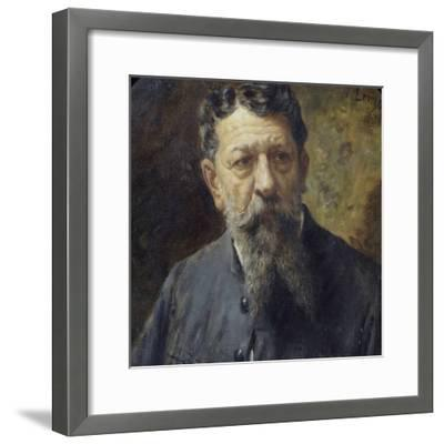 Portrait of Painter Scomparini-Antonio Lonza-Framed Giclee Print