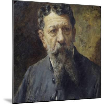 Portrait of Painter Scomparini-Antonio Lonza-Mounted Giclee Print