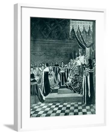 Henry VI Opening Parliament with His Mother-Arthur David McCormick-Framed Giclee Print