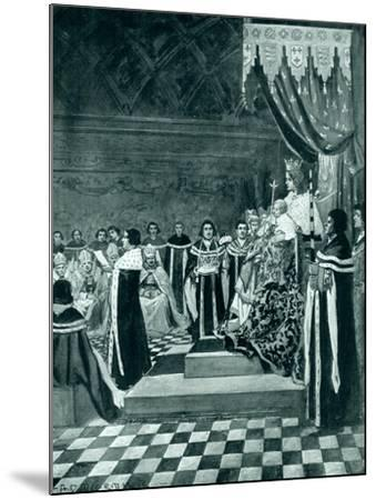 Henry VI Opening Parliament with His Mother-Arthur David McCormick-Mounted Giclee Print