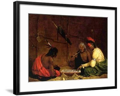 Winnebago Indians Playing Checkers, 1842-Charles Deas-Framed Giclee Print