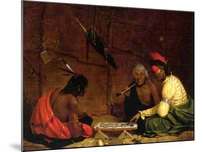 Winnebago Indians Playing Checkers, 1842-Charles Deas-Mounted Giclee Print