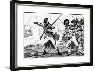The Volunteers in Sabots at the Battle of Valmy-Caran D'Ache-Framed Giclee Print