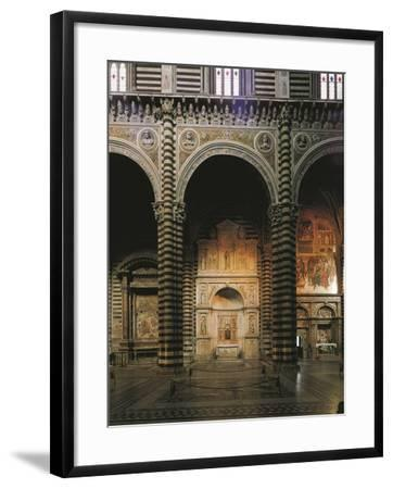 Glimpse of the Left Aisle with Piccolomini Altar, 1481-1485-Andrea Bregno-Framed Giclee Print