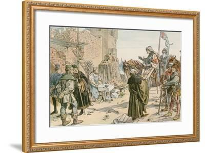 Frederick II at the Laying of the Foundations of the Castle on the River Spree in 1443-Carl Rohling-Framed Giclee Print