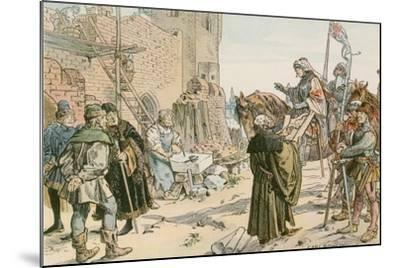 Frederick II at the Laying of the Foundations of the Castle on the River Spree in 1443-Carl Rohling-Mounted Giclee Print