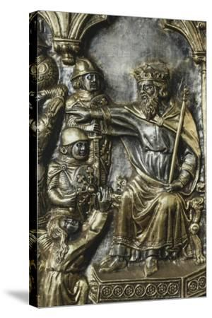 Slaughter of Innocents, Panel on Frontal of Altar of St James-Andrea Di Jacopo D'Ognabene-Stretched Canvas Print