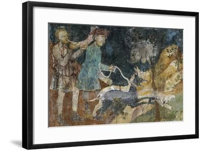 Hunting Scenes, 1292- Azzo of Masetto-Framed Giclee Print