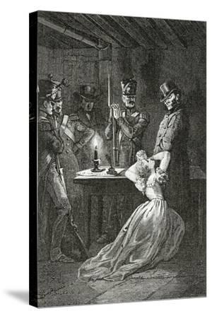 Illustration from Les Misérables, 19th Century-Alphonse Marie de Neuville-Stretched Canvas Print