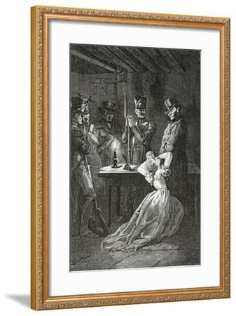 Illustration from Les Misérables, 19th Century-Alphonse Marie de Neuville-Framed Giclee Print