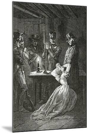 Illustration from Les Misérables, 19th Century-Alphonse Marie de Neuville-Mounted Giclee Print