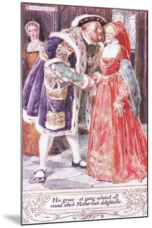 His Grace at Going Saluted All Round, Which Mother Took Delightedlie-Charles Edmund Brock-Mounted Giclee Print