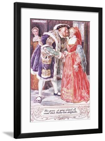 His Grace at Going Saluted All Round, Which Mother Took Delightedlie-Charles Edmund Brock-Framed Giclee Print