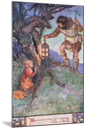 Discovered a Tiny Girl Cowering under a Thorn Bush-Charles Edmund Brock-Mounted Giclee Print