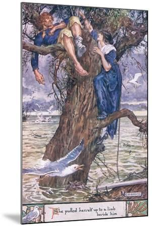 She Pulled Herself Up to a Limb Beside Him.-Charles Edmund Brock-Mounted Giclee Print