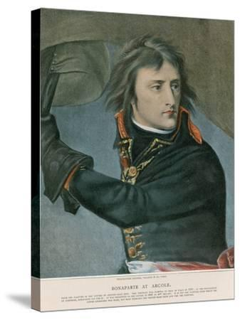 Bonaparte at Arcole-Baron Antoine Jean Gros-Stretched Canvas Print