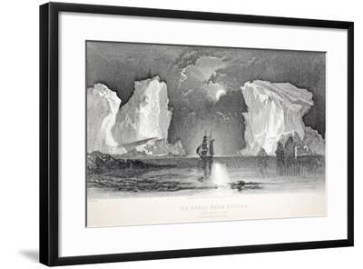 Icebergs Near Kosoak, Life Boat Cove-Elisha Kane-Framed Giclee Print