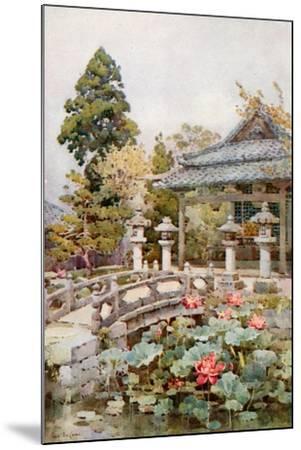 Lotus at Kyomidzu-Ella Du Cane-Mounted Giclee Print