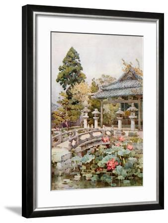 Lotus at Kyomidzu-Ella Du Cane-Framed Giclee Print