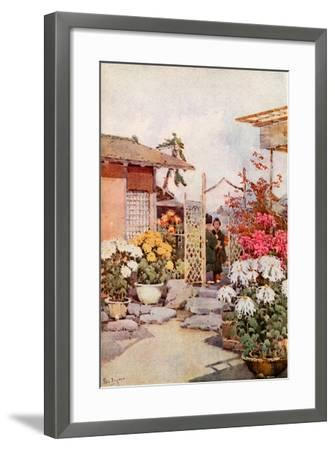 Chrysanthemums, Kyoto-Ella Du Cane-Framed Giclee Print