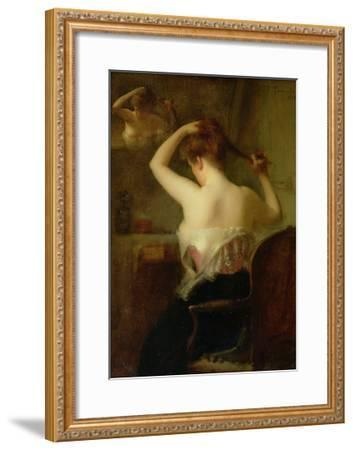 Woman Arranging Her Hair, 1903-Etienne Tournes-Framed Giclee Print