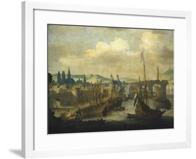 Port of Rouen, Ca 1620-Claude de Jongh-Framed Giclee Print