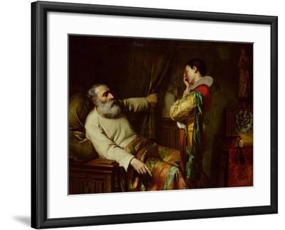 The Last Moments of Christopher Columbus-Claude Jacquand-Framed Giclee Print