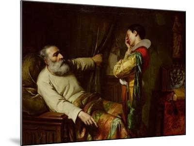 The Last Moments of Christopher Columbus-Claude Jacquand-Mounted Giclee Print