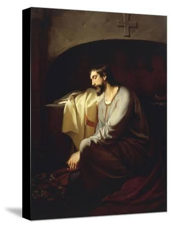 A Neophyte, 1851-Domenico Morelli-Stretched Canvas Print